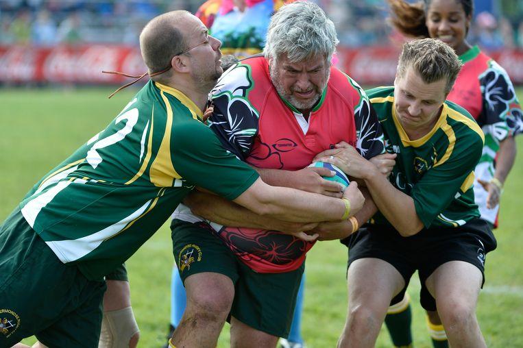 Pascal Braeckman speelde eerder al mee met een BV-team tijdens de Flanders Open Rugby. Nu wordt hij peter van het gebeuren.
