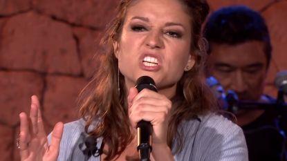 Operazangeres Maria verbijstert haar  collega's als grofgebekte rapper