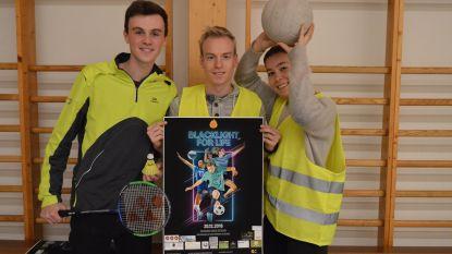 Marie, Dries en Arne organiseren 'Blacklight For Life' in Bevegemse Vijvers