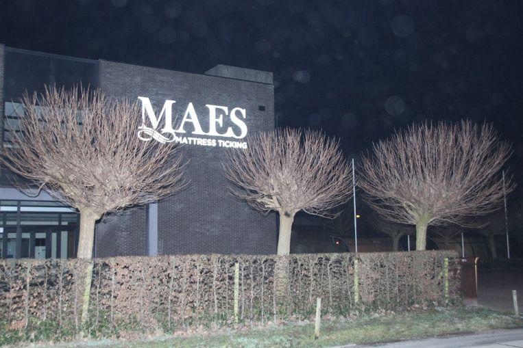 de brand brak uit bij Maes Matress Ticking