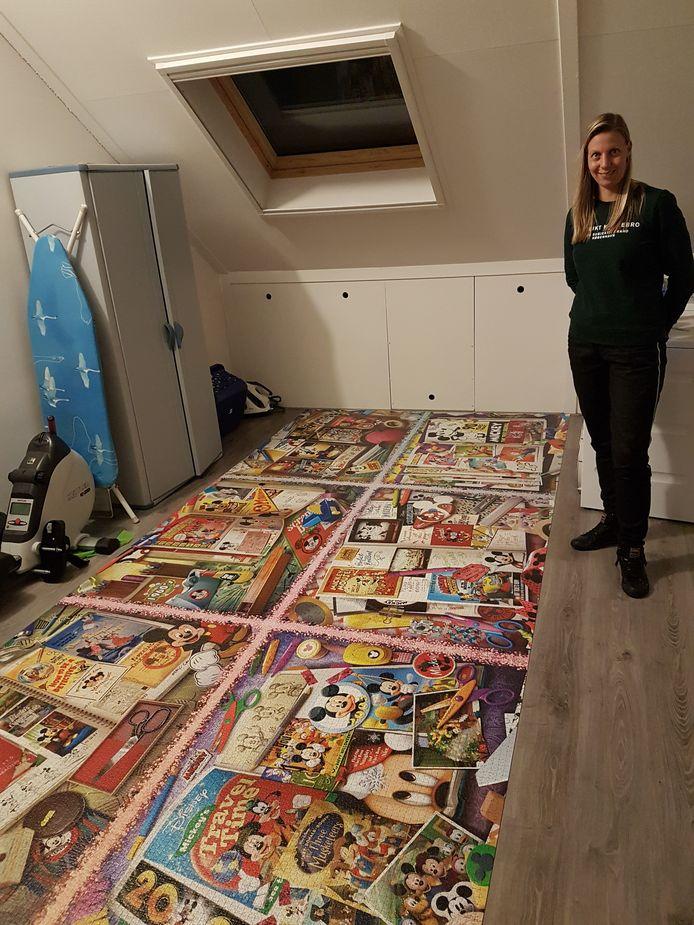 Petra van Dusschoten met de puzzel.