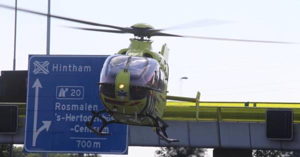 Motorrijder zwaargewond na ongeluk op A59.