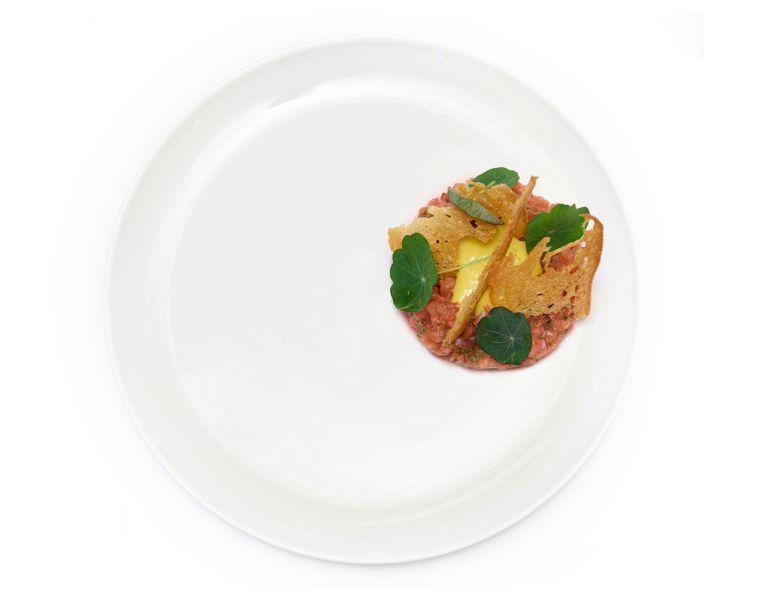 Steaktartaar zonder vlees. Beeld null