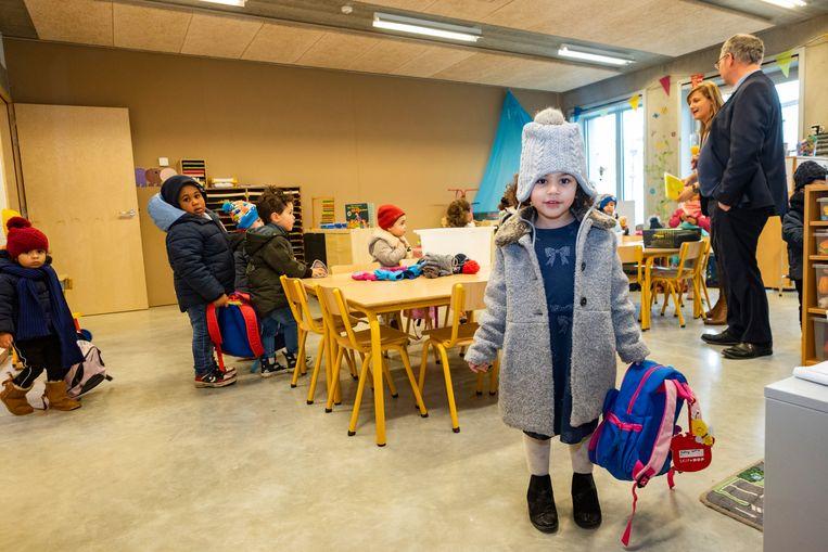 De kleuters van Xaverius voelen zich meteen helemaal thuis in hun nieuwe school.
