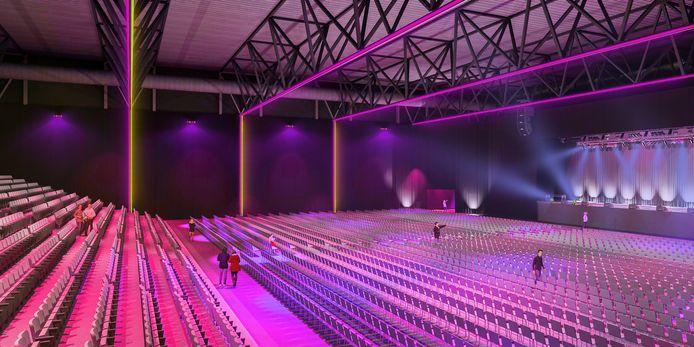 De entertainmenthal die in de bestaande hal 5 van de Brabanthallen moet komen.