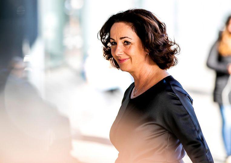 Burgemeester Femke Halsema voorafgaand aan de herdenking Beeld ANP