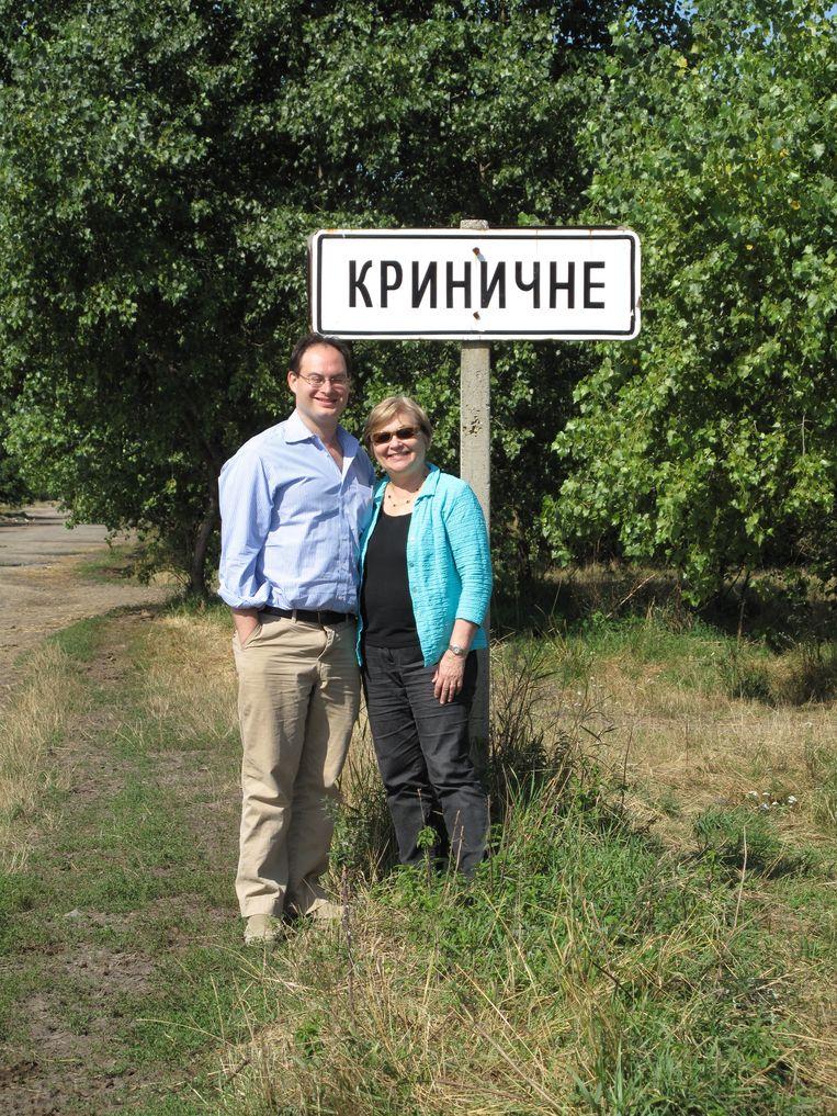 Frank en Esther in Oekraïne. Beeld Esther Safran Foer