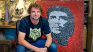 Cafés hebben pak minder afval: Wim Dufraing maakt kunstwerken met… kroonkurken