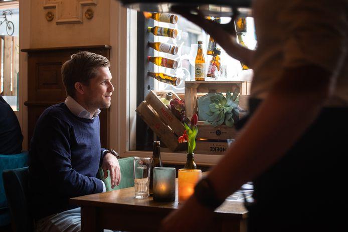 Nicolas Bartholomeeusen, de jonge Vlaamse directeur van brouwer AB InBev Nederland.
