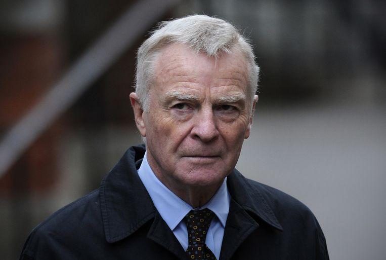 Oud-FIA-voorzitter Max Mosley Beeld AFP