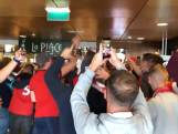 Supporters Lille zetten Amsterdamse metro op stelten