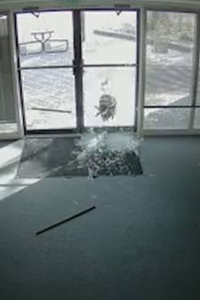 Criminele geit sloopt kantoor