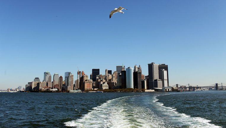 Een nieuw stuk land tegen Manhattan aan moet de stad beter beschermen tegen overstromingen en zorgen voor meer woningruimte. Beeld afp