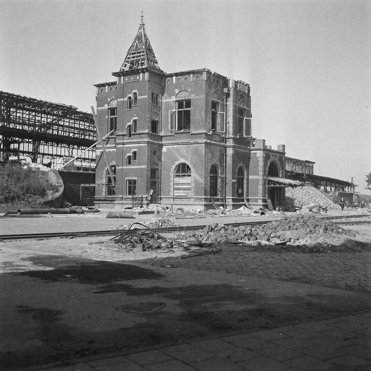Het stationsgebouw. Beeld Nationaal Archief Fotocollectie Anefo