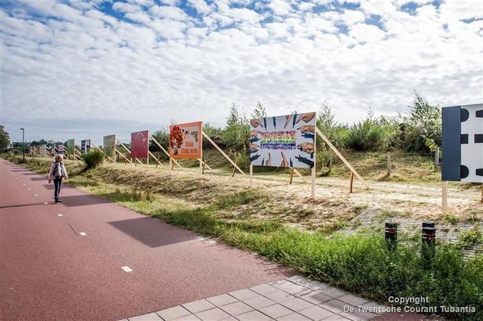 14 kunstwerken langs de fietssnelweg van Enschede naar Hengelo