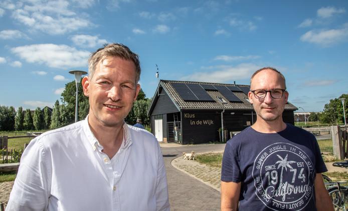 Marcel Broekhaar (links) en Bas ten Den, inwoner van Stadshagen en deelnemer aan Senshagen.