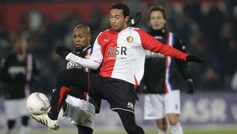 Feyenoord heeft zaterdagavond de vierde competitiezege op rij behaald. Foto ANP Beeld