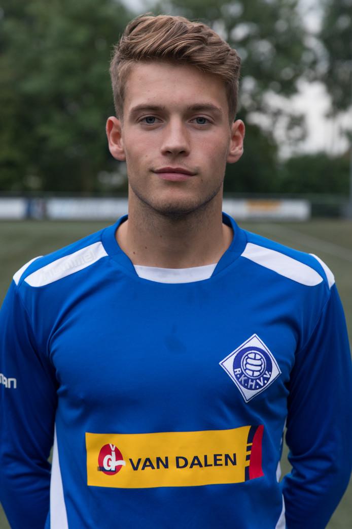 Danny Bosch scoorde twee keer voor RKHVV tegen Beuningse Boys.