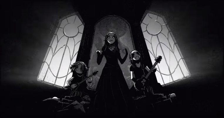 Still uit de videoclip van Cathedrals Of Mourning Beeld