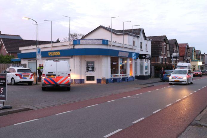Op deze plek werd een man aangehouden nadat hij er vandoor wilde gaan bij het zien van de politie.