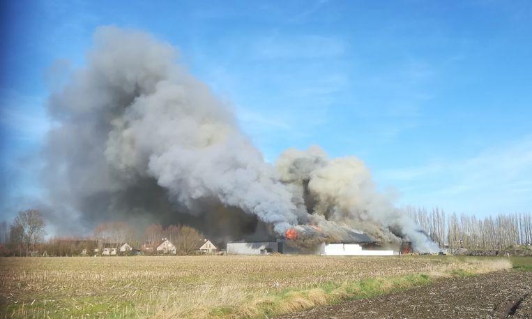 De zware brand in Buntelaere.