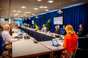 Overleg van de Ministeriële Commissie Crisisbeheersing (MCCb) over het coronavirus, afgelopen week.
