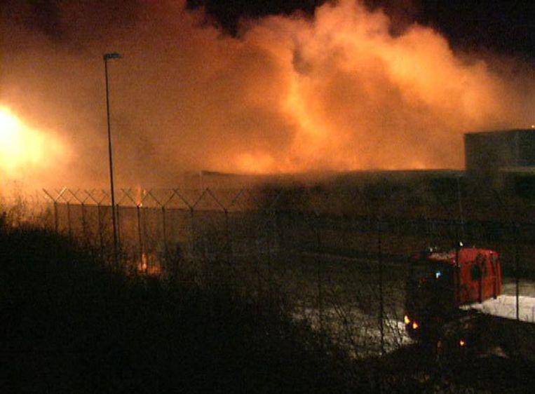 De brand op Schiphol, 27 oktober 2005. Foto ANP/Hans Vrenegoor Beeld