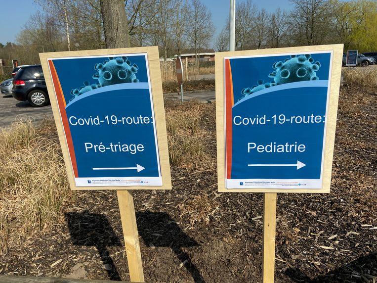 Het AZ Sint-Jozef zorgde voor twee strikt gescheiden circuits: één voor patiënten met een coronagerelateerde problematiek en één voor reguliere patiënten.