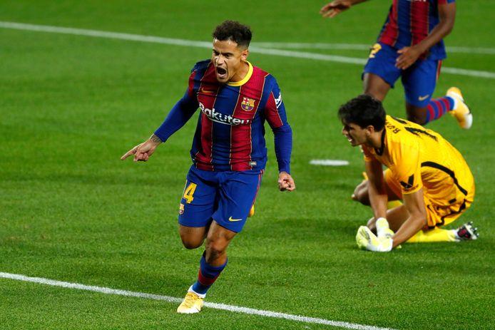 Coutinho scoorde snel de gelijkmaker voor FC Barcelona.