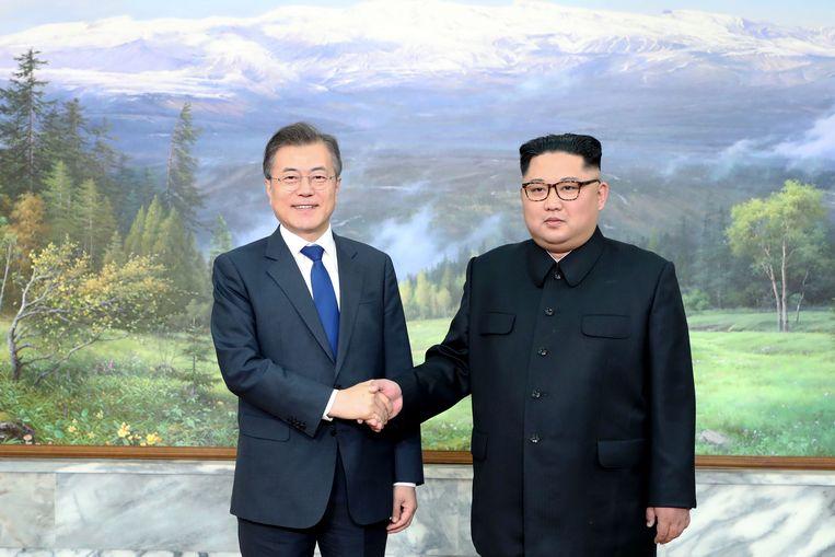 Een foto van hun ontmoeting op 26 mei