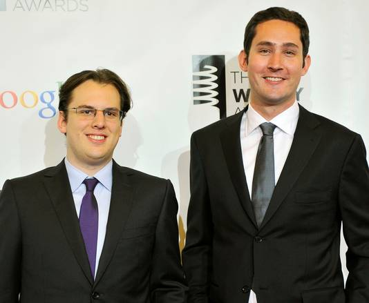 Mike Krieger (L) and Kevin Systrom.