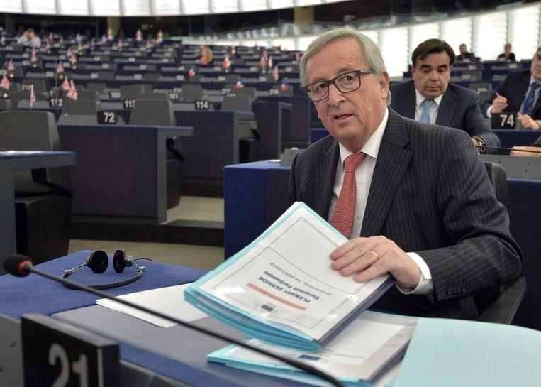 Jean-Claude Juncker, voorzitter van de Europese Commissie, waarschuwde onlangs voor een grote crisis wanneer Nederland tegen het associatieverdrag EU - Oekraïne zou stemmen. Beeld afp