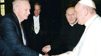 Brand Perneel op audiëntie bij paus