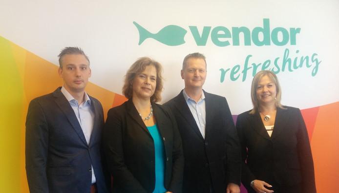V.l.n.r. Dennis Kleppe, Ghislaine Ottevanger, Hans Krijger en Sabine Thuysbaert.