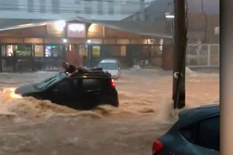 De Braziliaanse man werd meegesleurd door overstroming