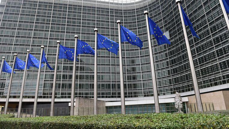 Het gebouw van de Europese Commissie in Brussel. Beeld AFP