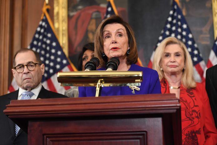La présidente de la Chambre des représentants des États-Unis , la démocrate Nancy Pelosi.