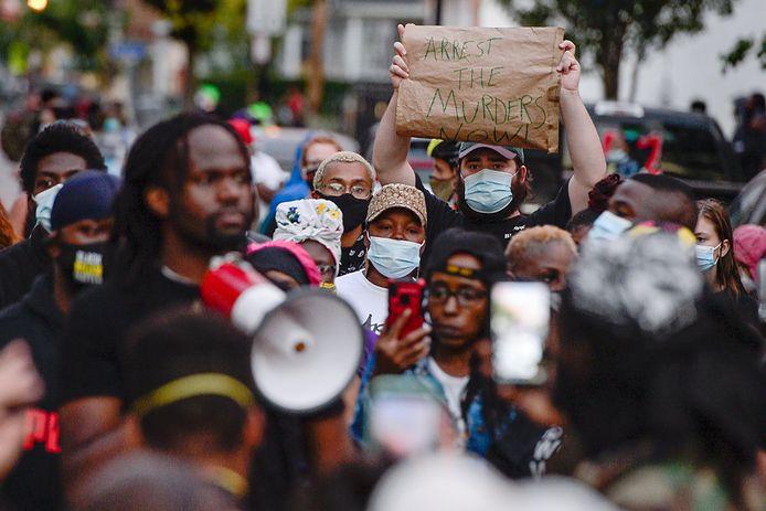 Demonstranten in Rochester