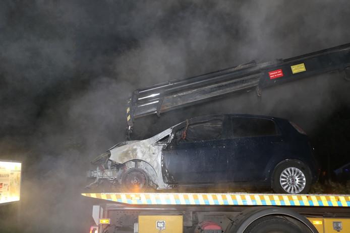 Auto in vlammen opgegaan in Boxtel