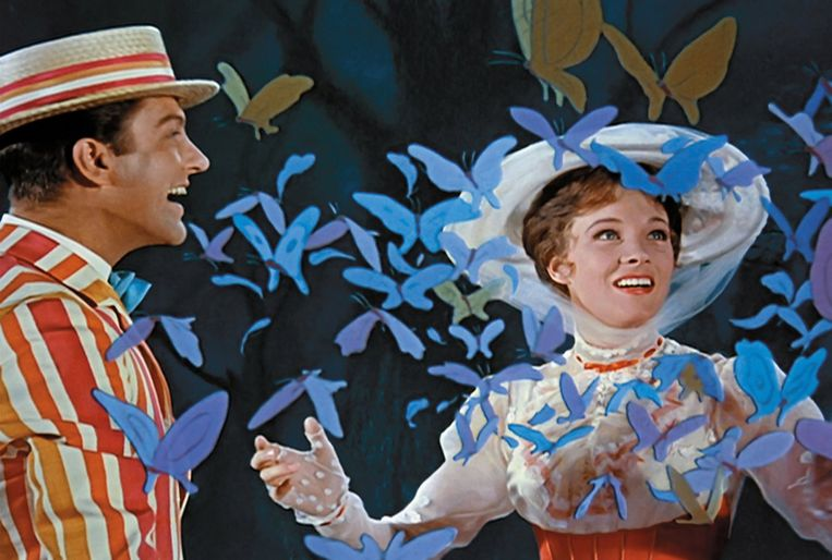 Julie Andrews in Mary Poppins uit 1964.