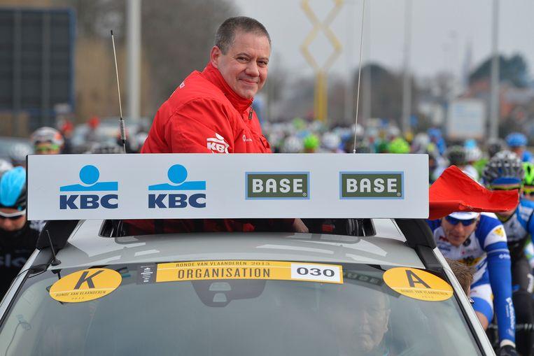 Wim Van Herreweghe, tijdens de  Ronde van Vlaanderen in 2013.