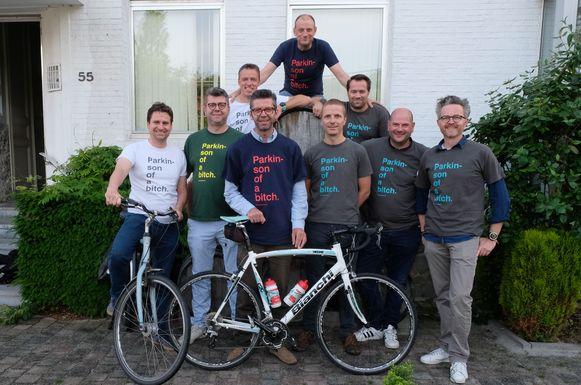 Het organisatiecomité van Parkinson of a Bitch. Maarten Renders staat vooraan, als derde van links.