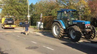 Tractor kantelt na uitwijkmanoeuvre