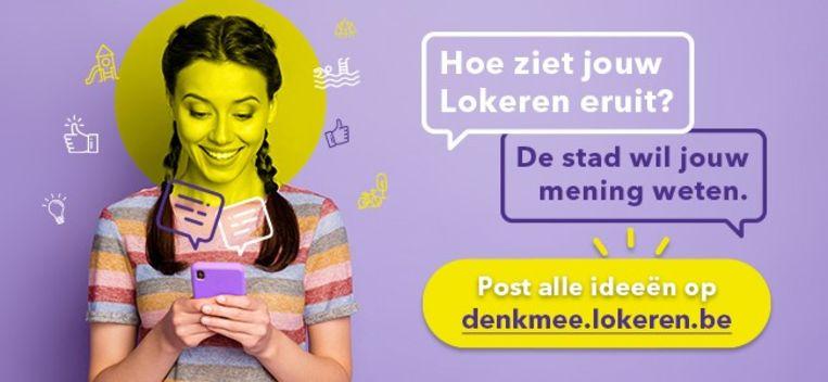 De campagne voor denkmee.lokeren.be werd ontworpen door het Lokerse ontwerpbureau Youtopi.
