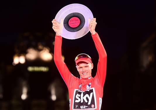 Froome als eindwinnaar van de Vuelta.