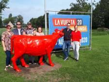 Rode stier verwelkomt Vuelta in Dinteloord