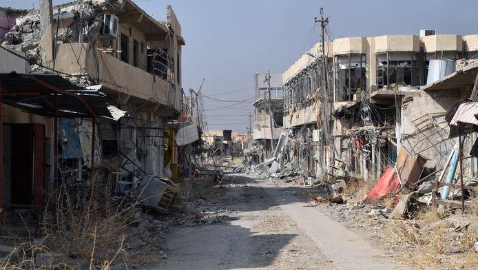 Archiefbeeld ter illustratie: recent beeld van de vernielingen in Mosul