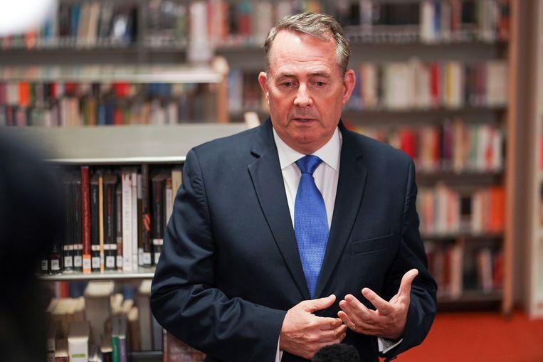 De Britse minister Liam Fox over het vertrek van de Britse ambassadeur in de VS: 'Ik ben woedend over het lek.' Beeld REUTERS