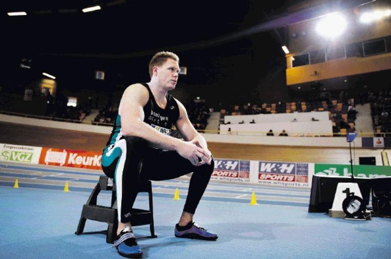 Kogelstoter Rutger Smith concentreert zich op het NK na twee jaar afwezigheid. (FOTO OLAF KRAAK, ANP) Beeld