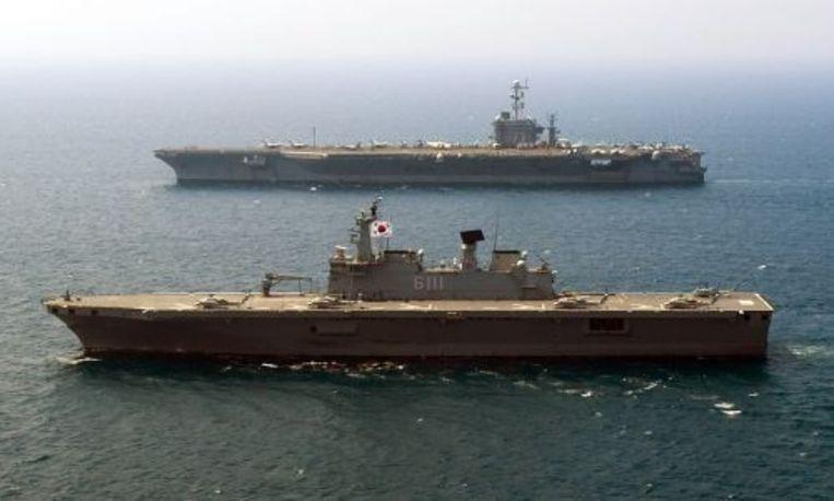 Zuid-Koreaanse marineschepen. ANP Beeld